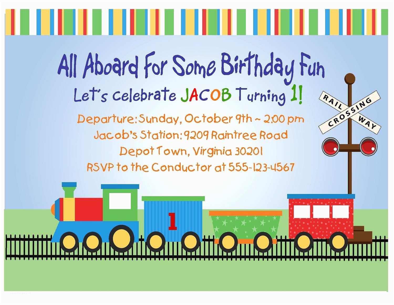 Train Birthday Invitations Train Birthday Invitations with Photo