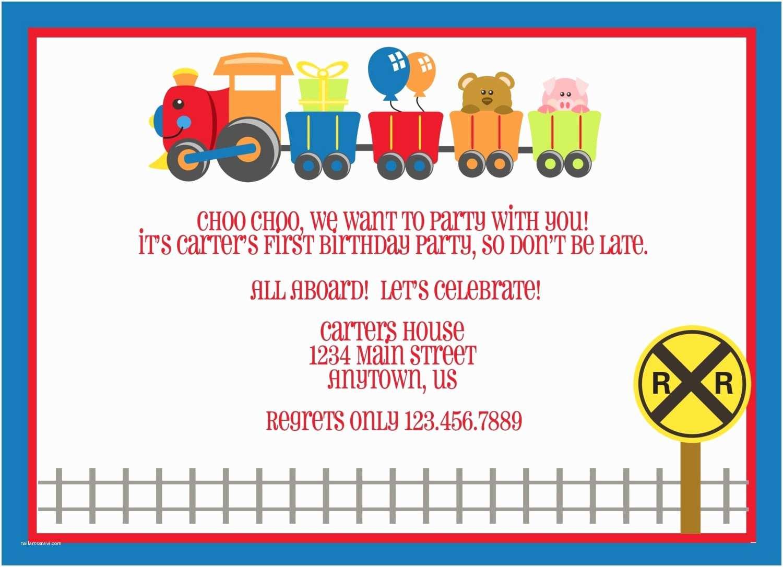 Train Birthday Invitations Train Ticket Template for Kids
