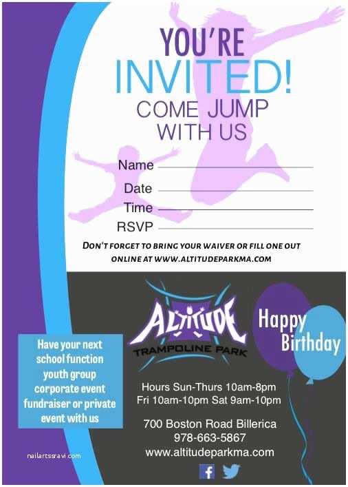 Trampoline Birthday Party Invitations 128 Best Ryan S 10th 11th