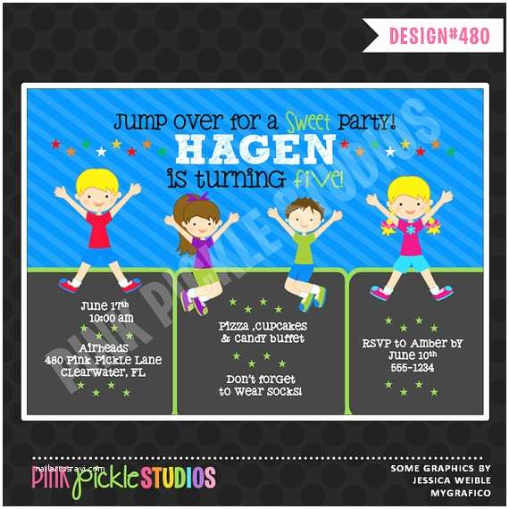 Trampoline Birthday Party Invitations 301 Moved Permanently