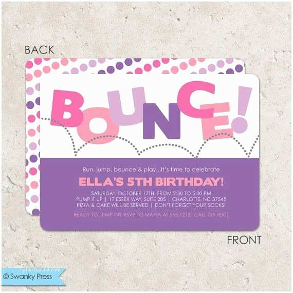 Trampoline Birthday Party Invitations Best 25 Bounce House Ideas On Pinterest