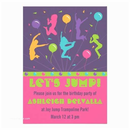 Trampoline Party Invitations Personalized Trampoline Party Invitations