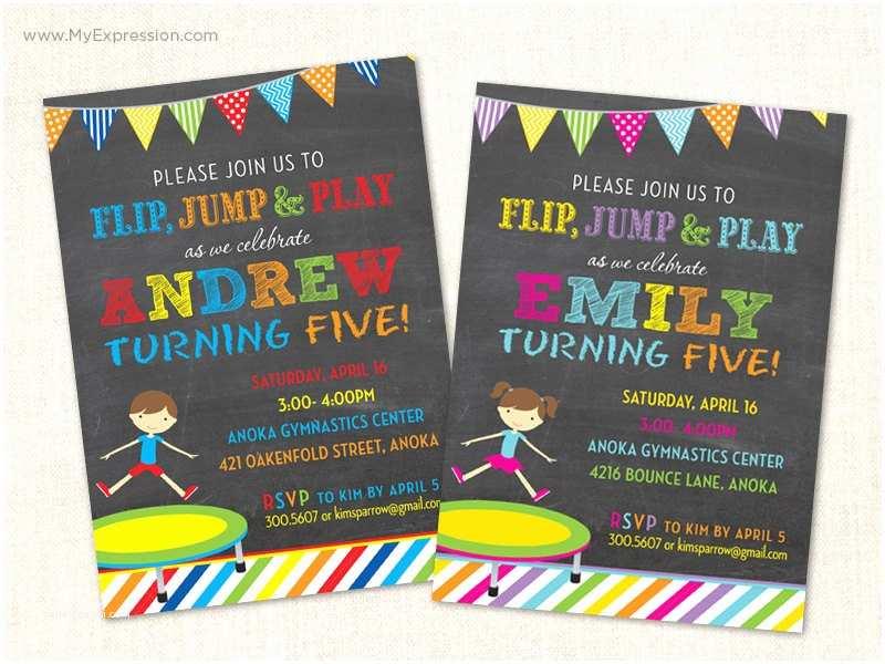 Trampoline Party Invitations Trampoline Invitations Trampoline Party Invitations Boy