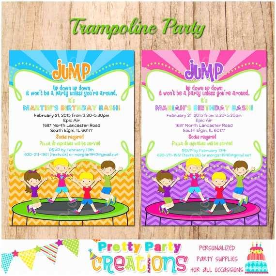 Trampoline Party Invitations Trampoline Party Invitation You Print