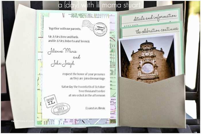 Travel themed Wedding Invitations A Day with Lil Mama Stuart Travel themed Wedding