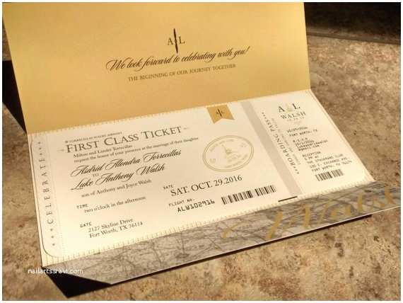 Travel themed Wedding Invitations Aviation Airplane Travel themed Wedding Invitation