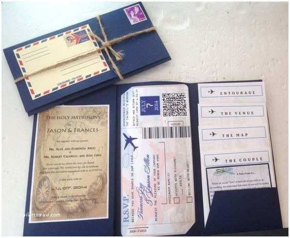 Travel themed Wedding Invitations Diy Travel themed Wedding Invites