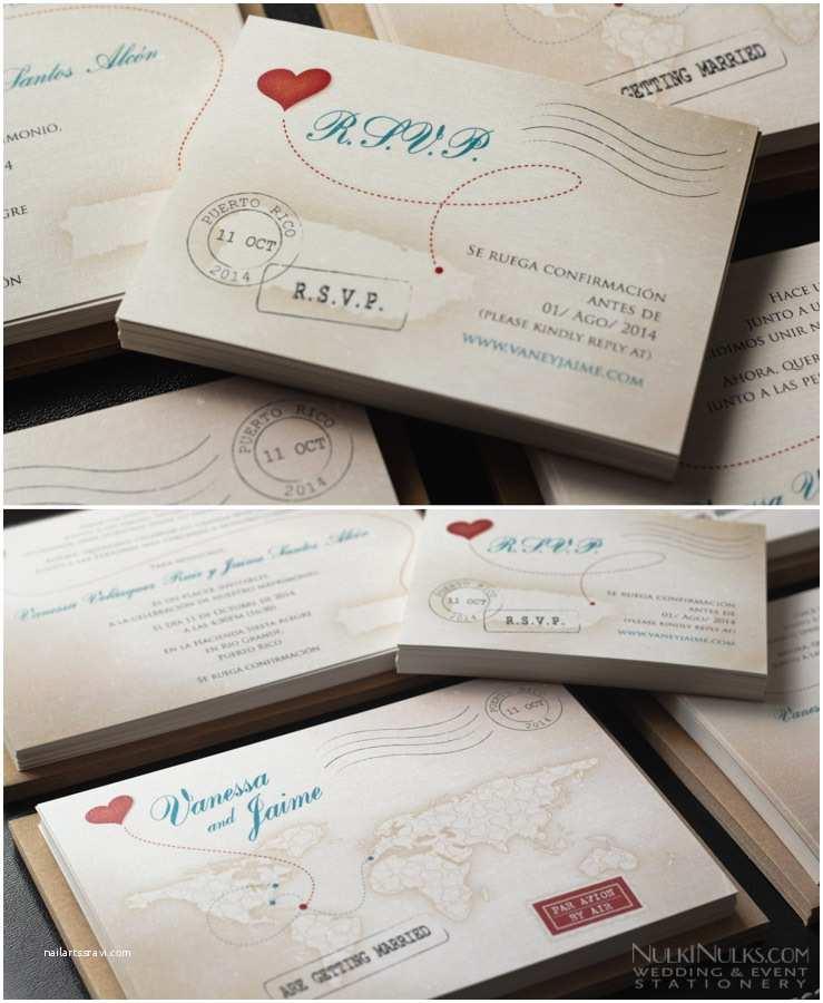 Travel themed Wedding Invitations Love S Journey Vintage Map Travel theme