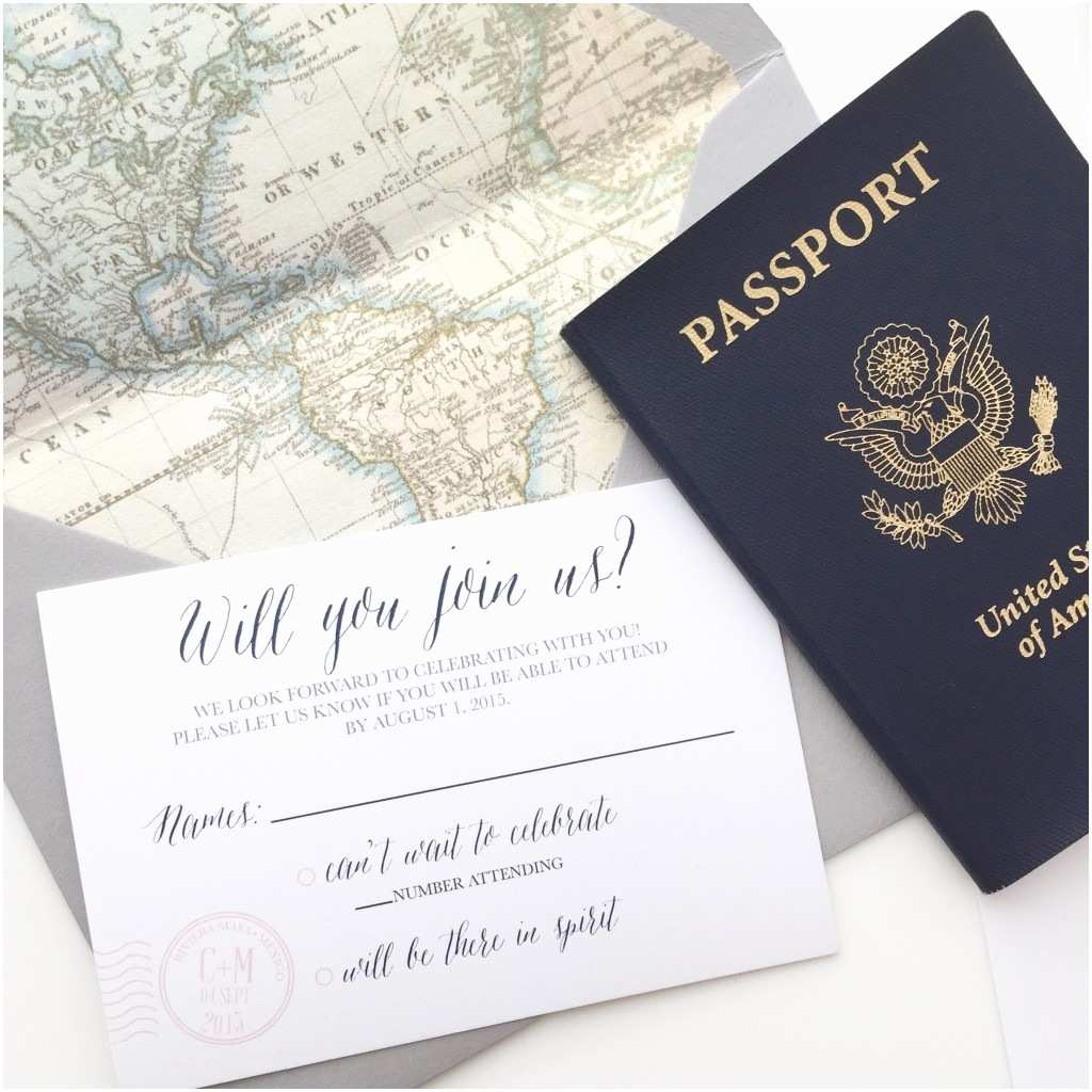 Travel themed Wedding Invitations Pretty Paper Archives