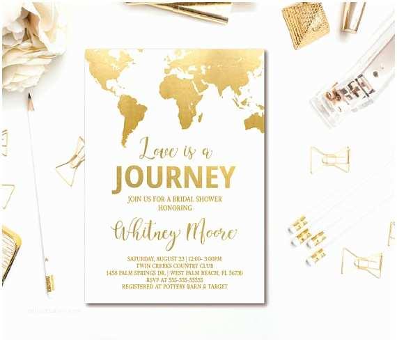 Travel themed Wedding Invitations Travel Bridal Shower Invitations & Decor Ideas