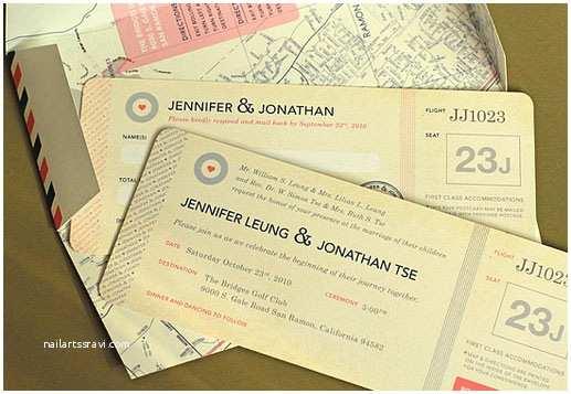 Travel themed Wedding Invitations Travel themed Wedding Invitations for Jennifer Jonathan