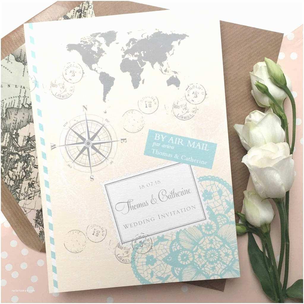 Travel Wedding Invitations Love Travel Wedding Invitation by Ditsy Chic
