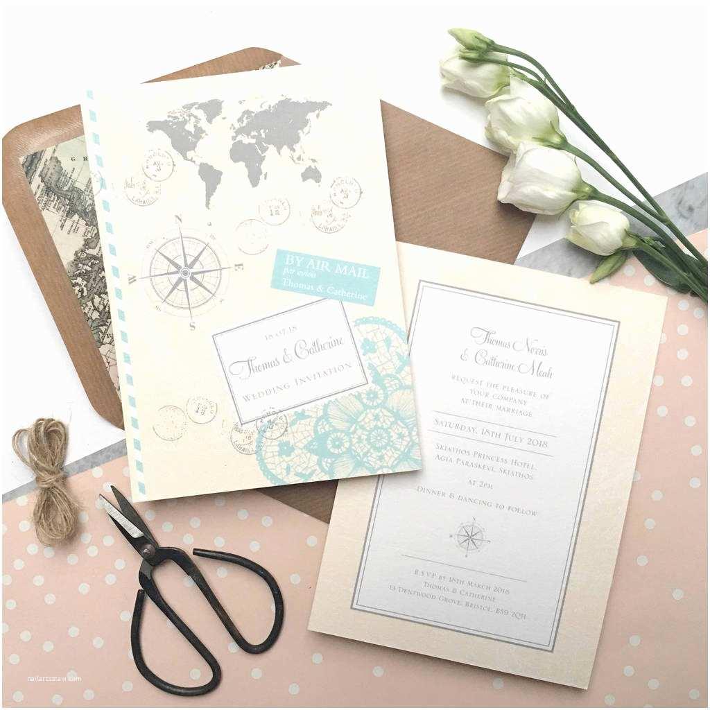Travel Wedding Invitations Love Travel Wedding Invitation By Ditsy