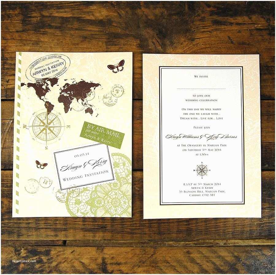 Travel Wedding Invitations Travel theme Invite Mini Wedding Pinterest