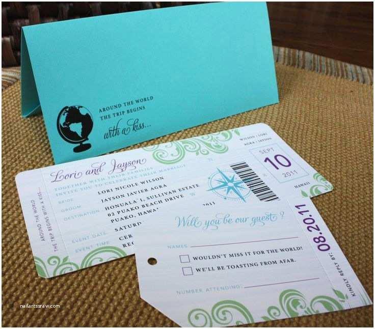 Travel Wedding  Travel Themed Boarding Pass Wedding
