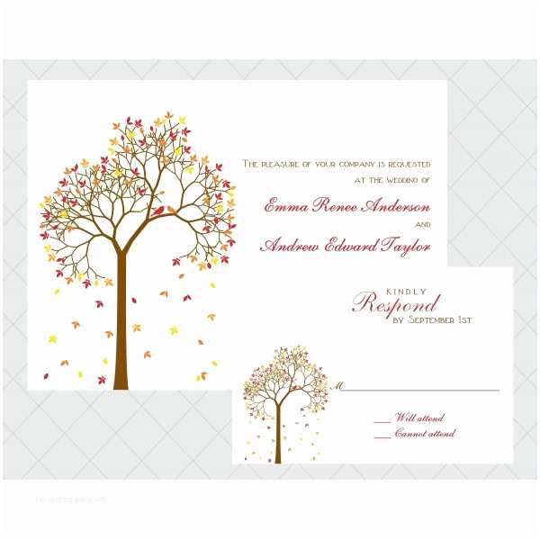 Tree Wedding Invitations Tree Wedding Invitations Style Templates