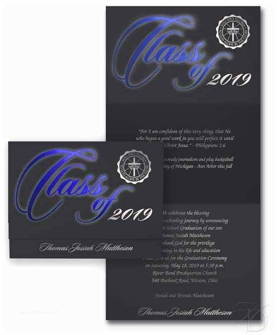 Tri Fold Graduation Invitations Vivid Color Tri Fold Graduation Announcements