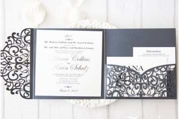 Tri Fold Wedding Invitations Designs Tri Fold Wedding Invitation