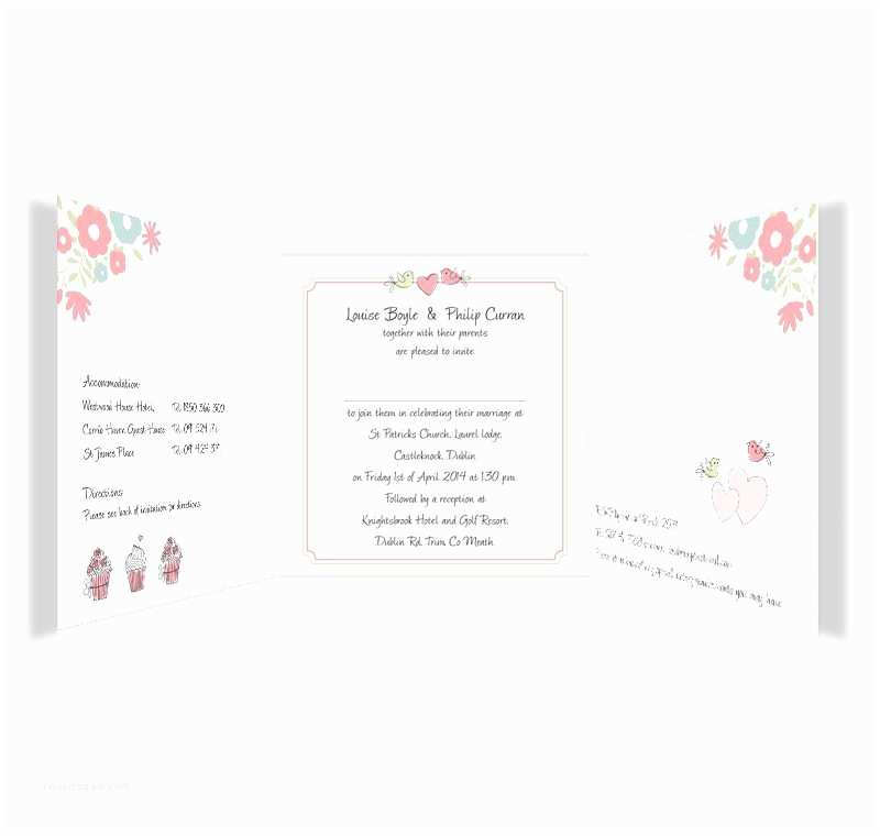 Tri Fold Wedding Invitations Sweetness & Light Tri Fold Wedding Invitations Sample