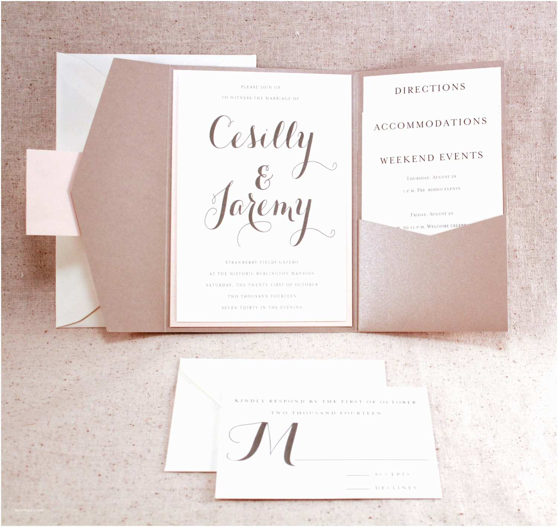 Tri Fold Wedding Invitations Tri Fold Wedding Invitations with Pocket