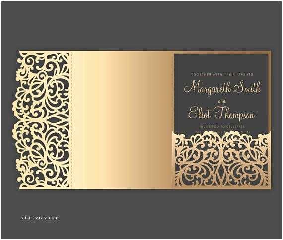 Tri Fold Wedding Invitations with Pocket 209 Best Laser Cut Wedding Invitations Images On Pinterest