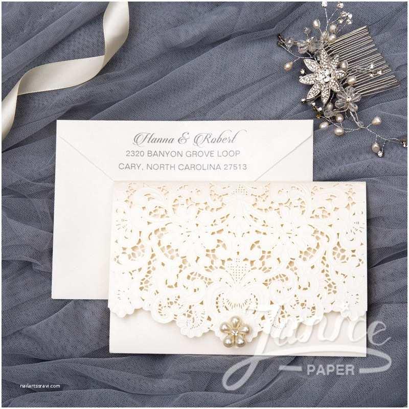 Tri Fold Wedding Invitations with Pocket Graceful Tri Fold Laser Cut Pocket wholesale Wedding