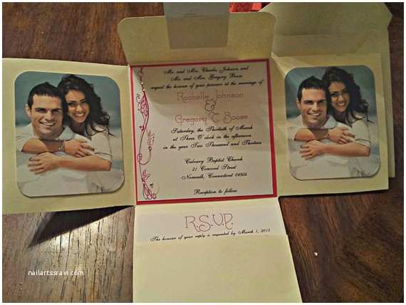 Tri Fold Wedding Invitations with Pocket Tri Fold Pocket Wedding Invitation Couture Wedding