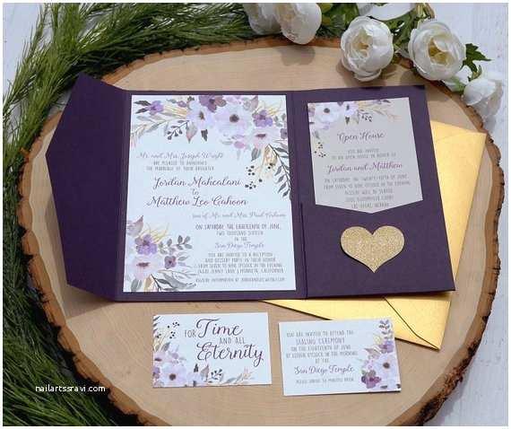 Tri Fold Wedding Invitations with Pocket Tri Fold Pocket Wedding Invitations Custom Typography