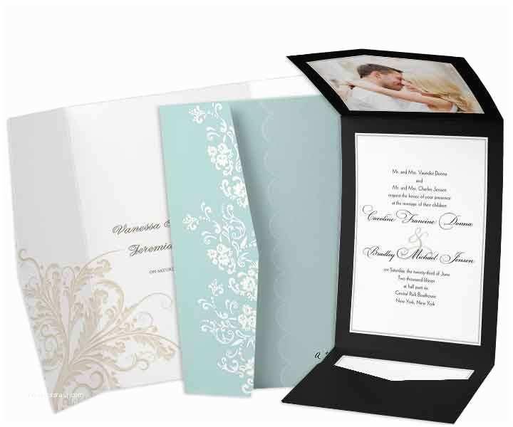 Tri Fold Wedding Invitations with Pocket Tri Fold Wedding Invitations with Pocket