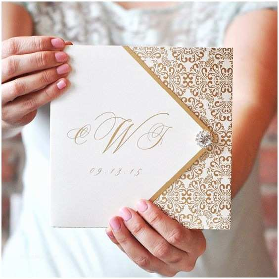 Tri Fold Wedding Invitations with Pocket Wedding Invitation