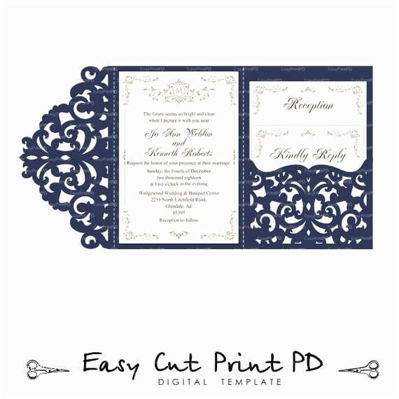 Tri Fold Wedding Invitations with Pocket Wedding Invitation Set Of Tri Fold Lace Pocket Envelope 5x7