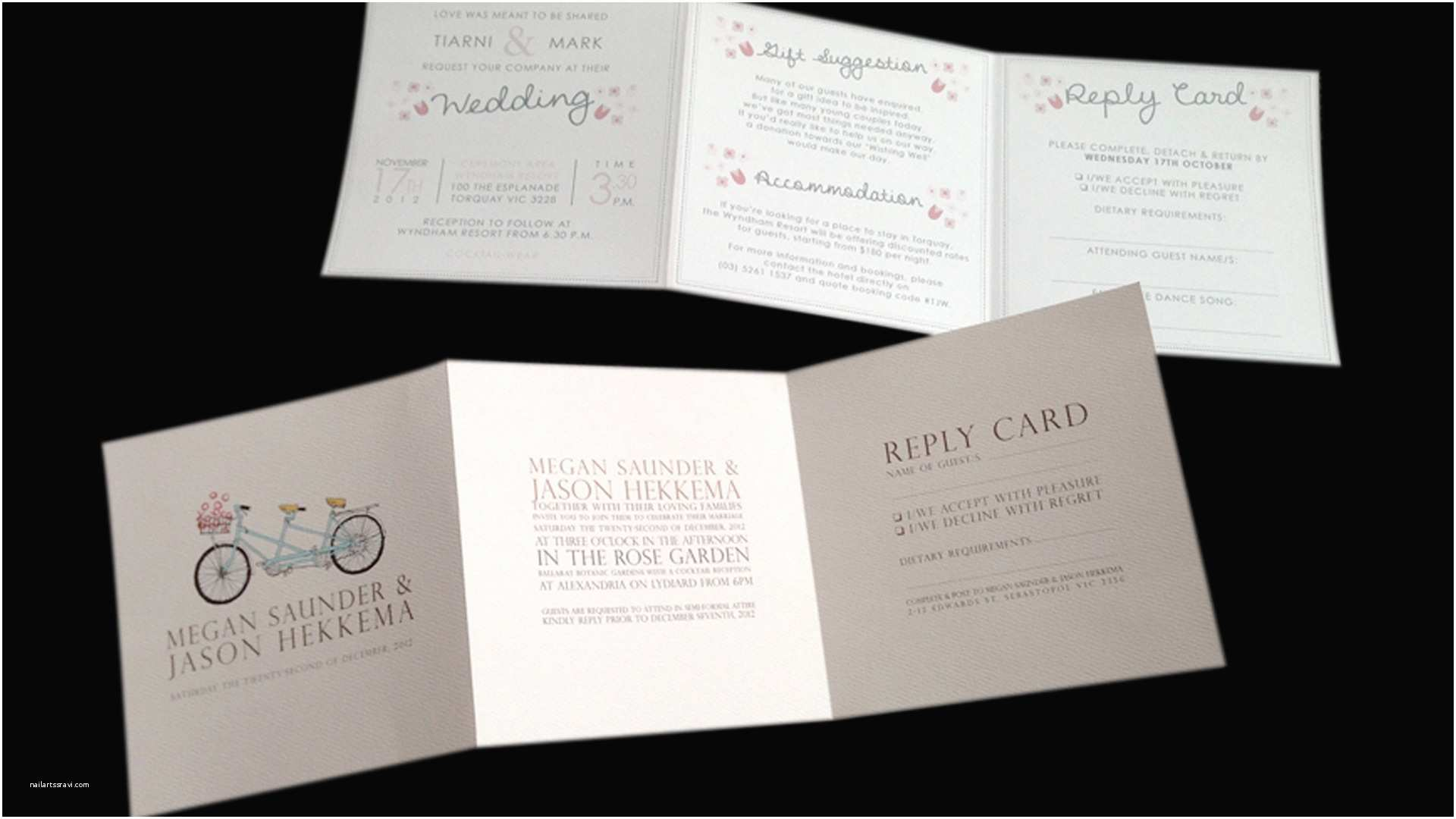 Tri Fold Wedding Invitations with Pocket Wonderful Tri Fold Wedding Invitations