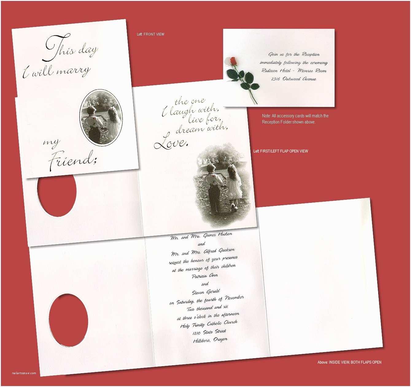Tri Fold Wedding Invitations Young Love Tri Fold Wedding Invitation