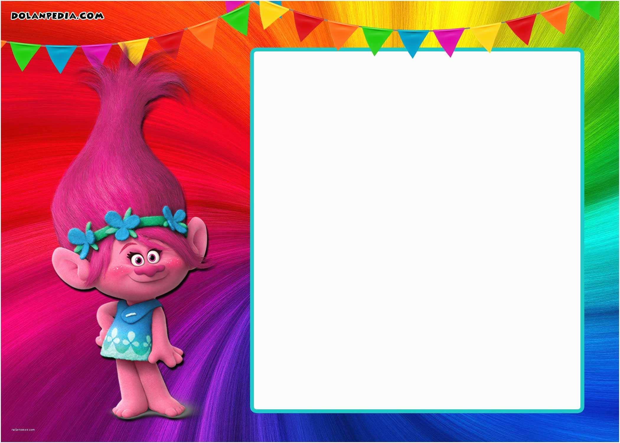 Trolls Birthday Party Invitations Free Printable Trolls Invitation Template