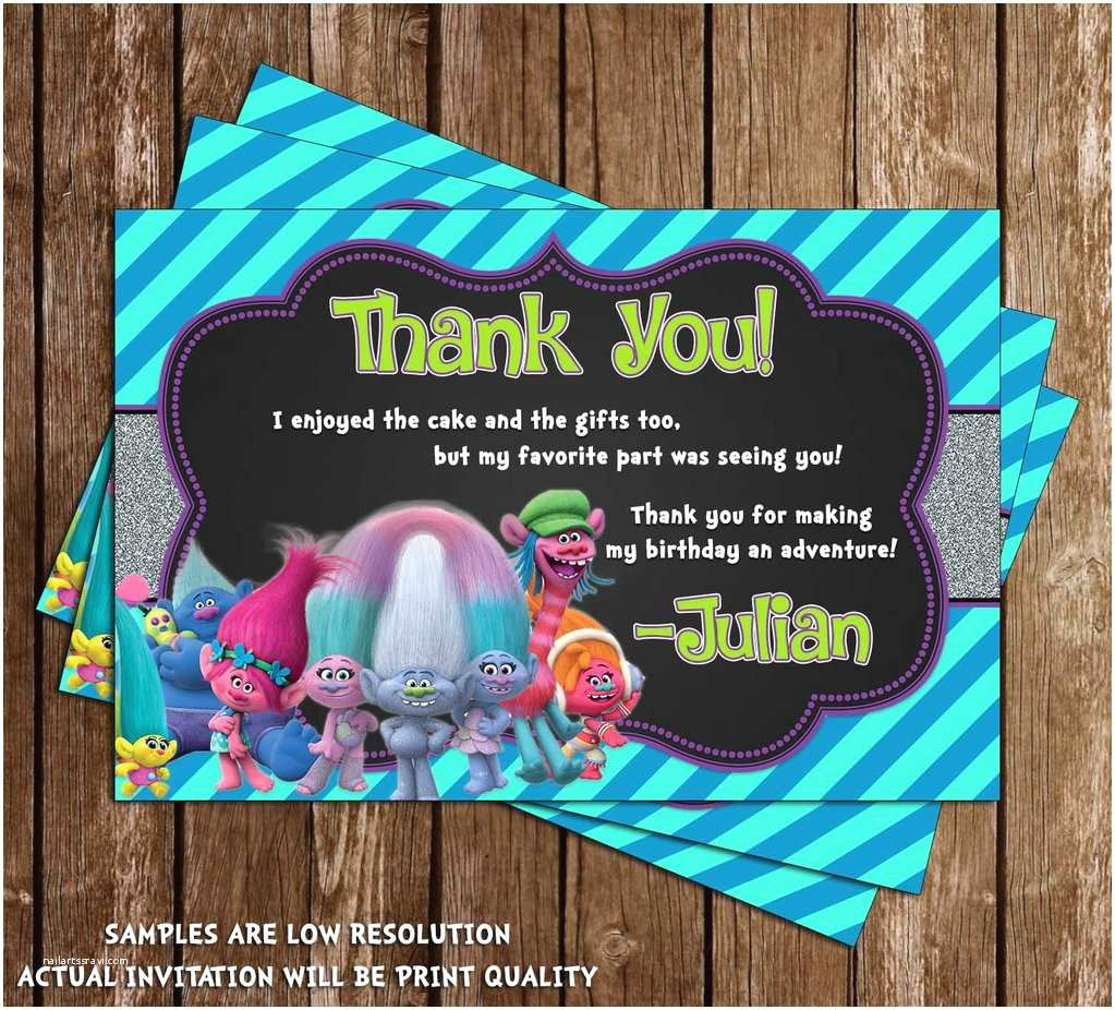 Trolls Party Invitations Novel Concept Designs Trolls Movie Birthday Party