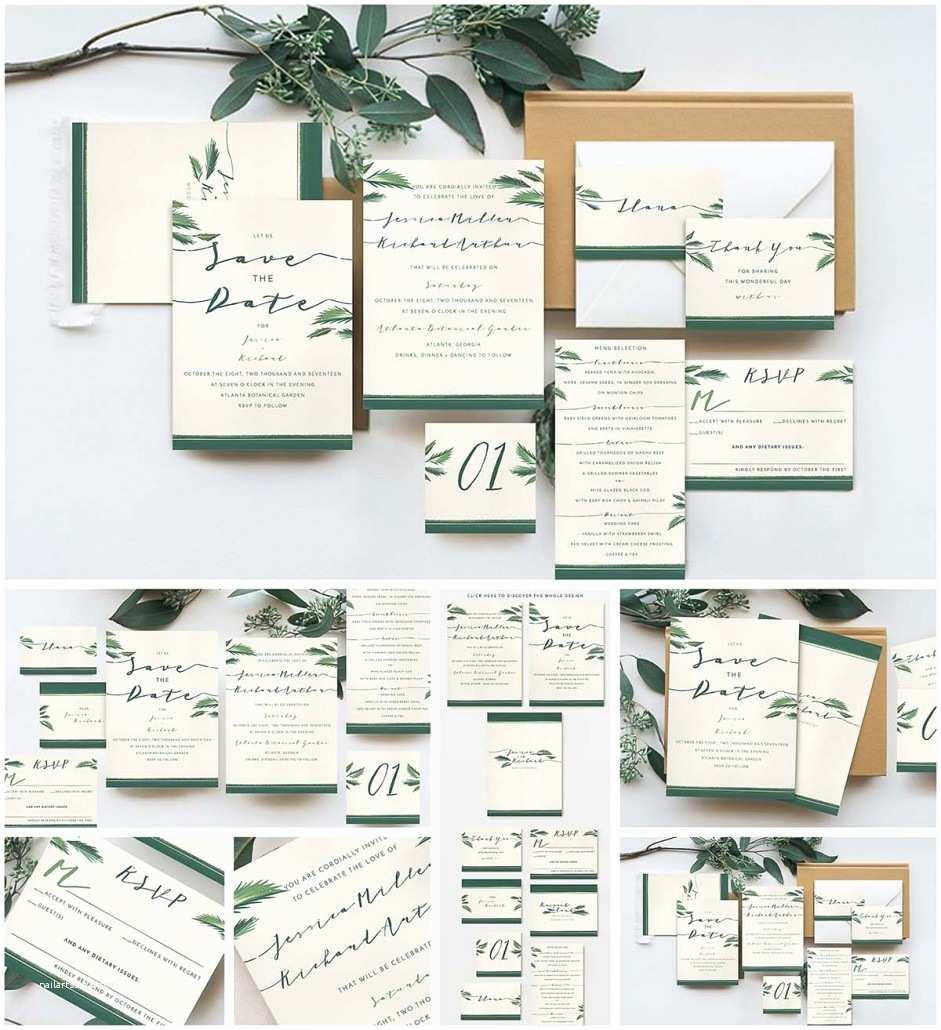 Tropical Wedding Invitations Elegant Tropical Wedding Invitation Cards