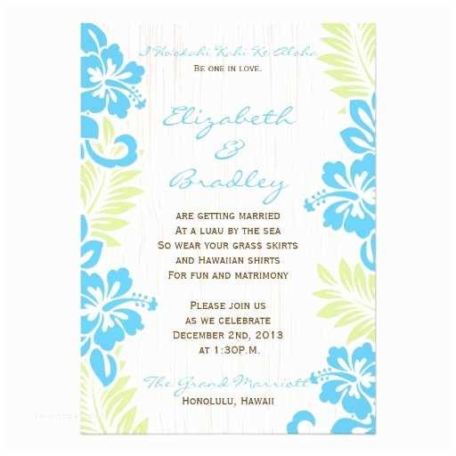 "Tropical Wedding Invitations Tropical Hawaiian Wedding Invitation Turquoise 5"" X 7"