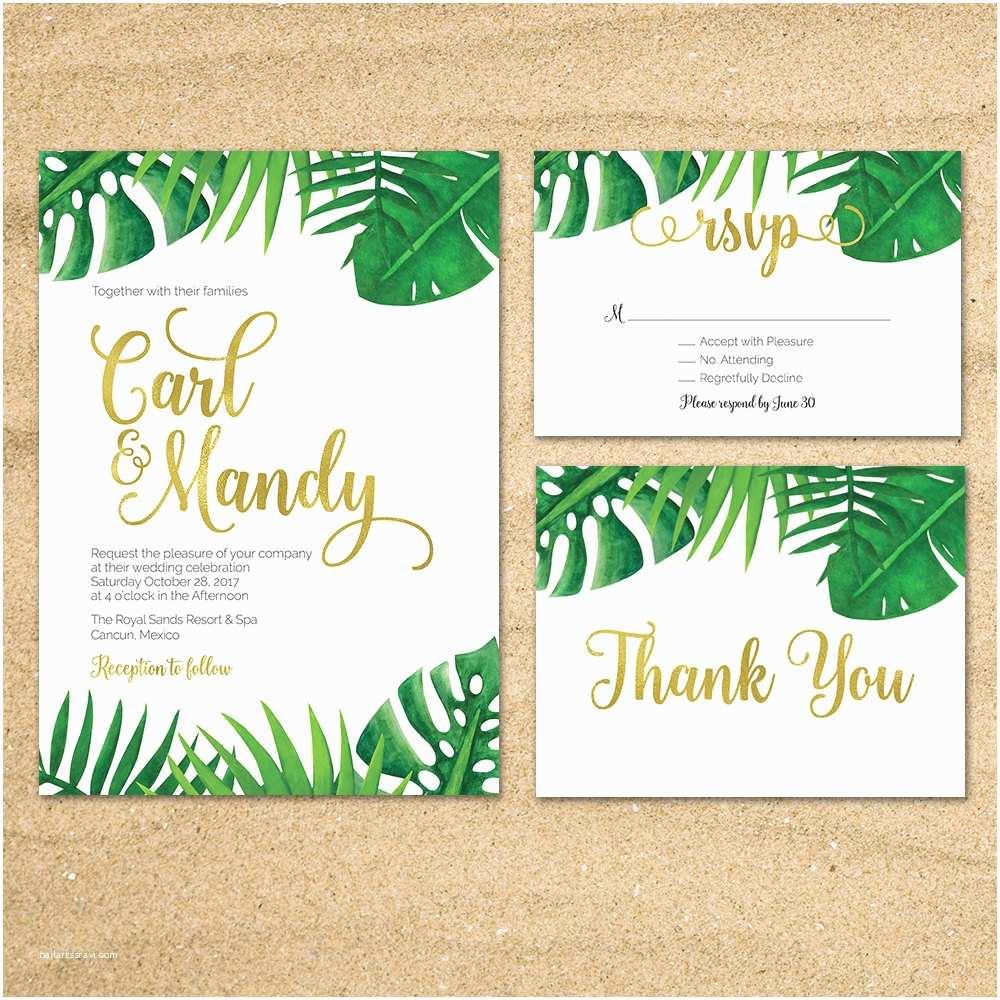 tropical wedding invitation tropical