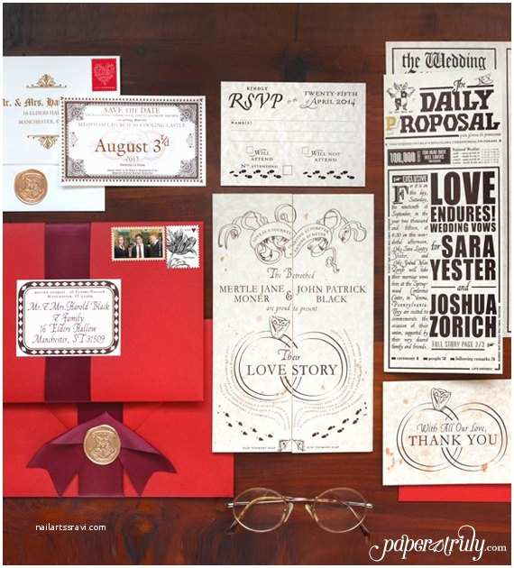 Truly Romantic Wedding Invitations 50 Best Harry Potter Ideas for Weddings