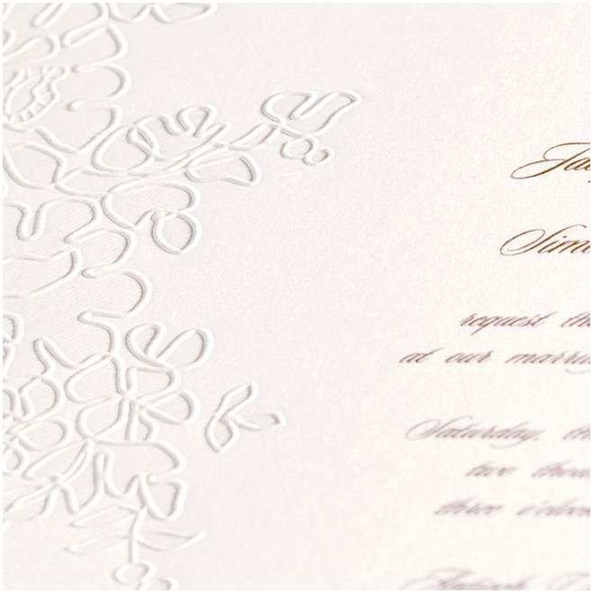 monique lhuillier wedding invitations that are truly romantic with an embossed alencon lace pattern superb monique lhuillier wedding invitations 2
