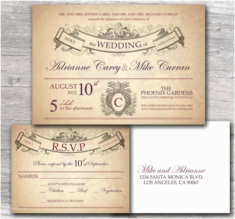 Truly Romantic Wedding Invitations ornate Wedding Invitation with Rustic French by