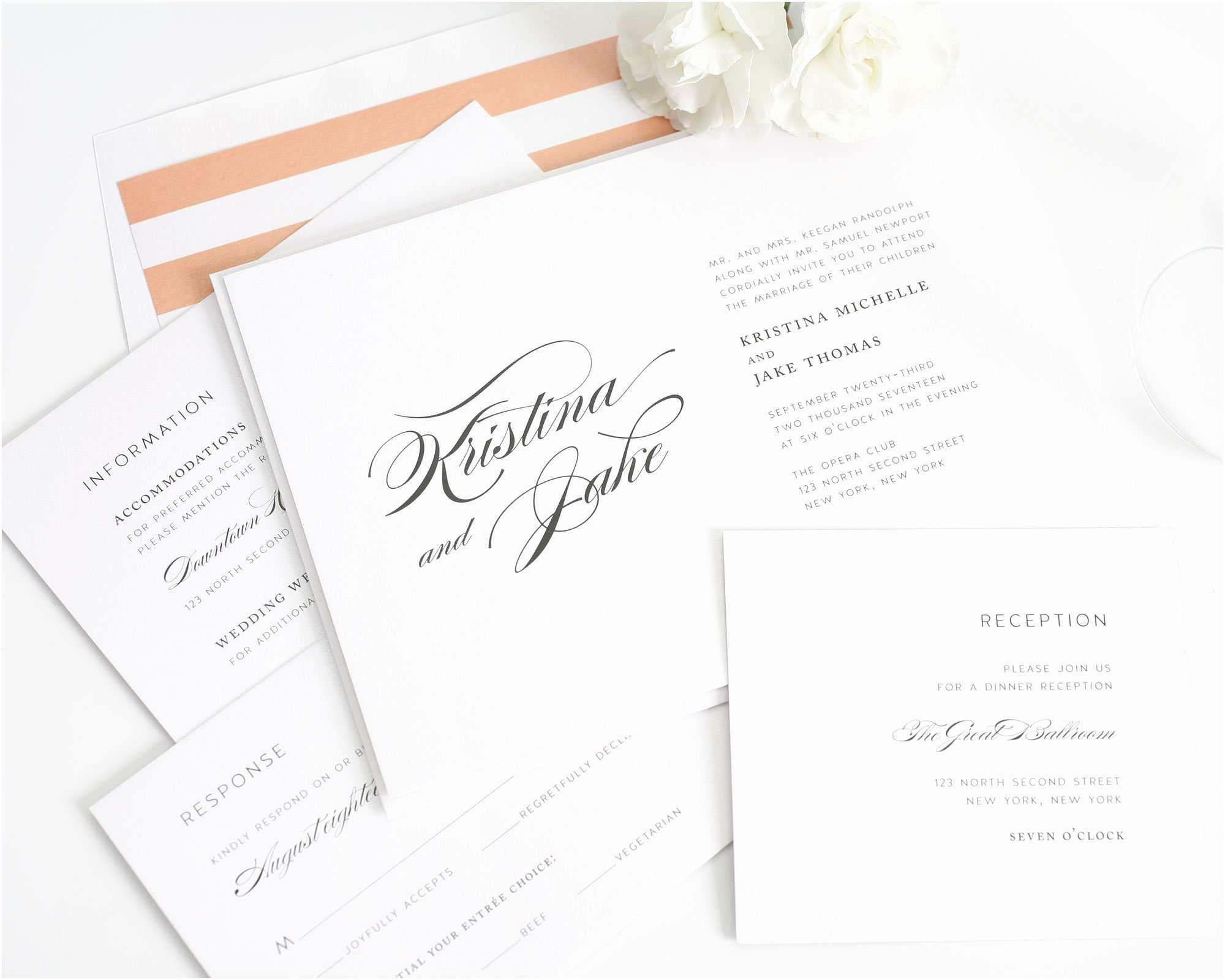 Truly Romantic Wedding Invitations Romantic Elegant Wedding Invitations – Wedding Invitations