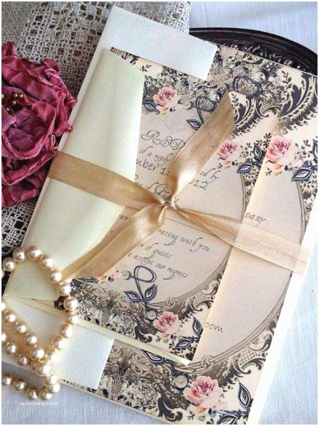 Truly Romantic Wedding Invitations Romantic Vintage Wedding Invitation Suite Sample by