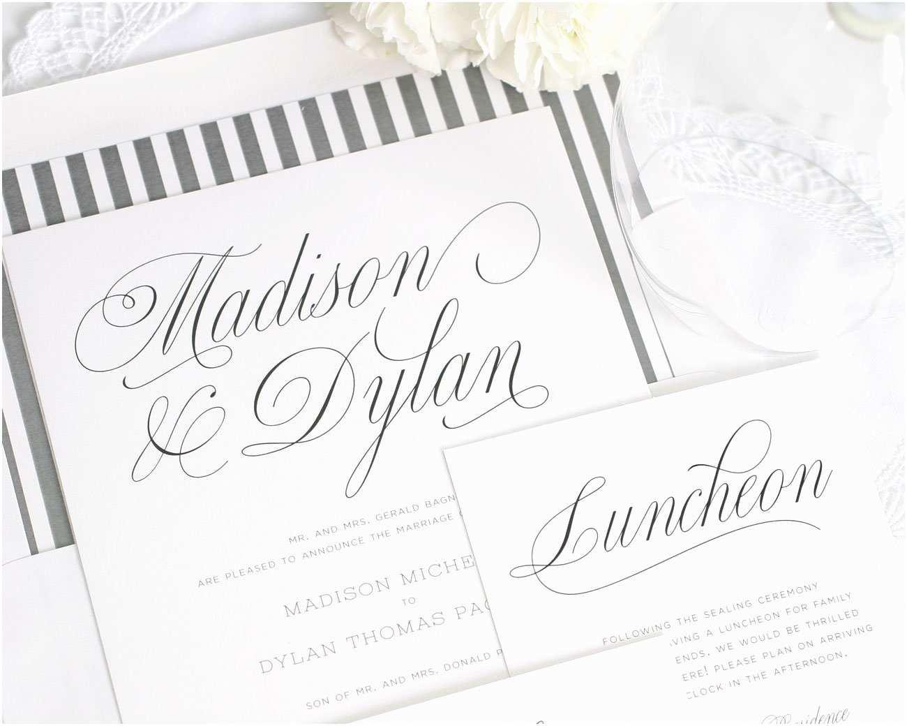 Truly Romantic Wedding Invitations Romantic Wedding Invitations In Charcoal – Wedding Invitations