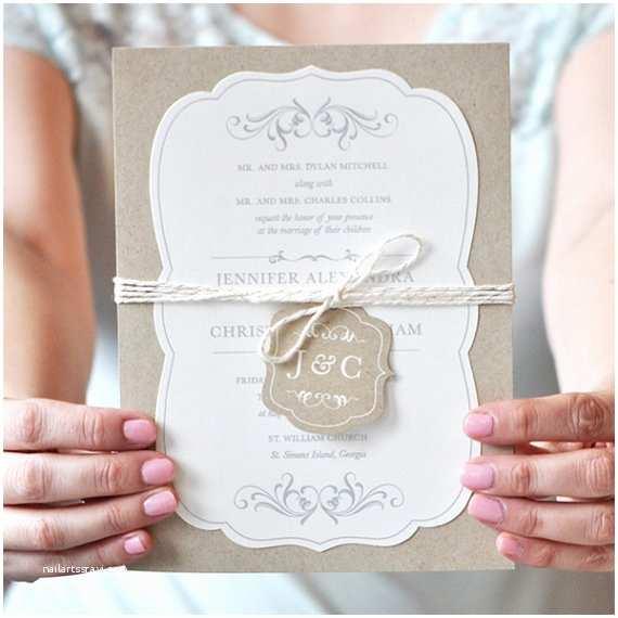 Truly Romantic Wedding Invitations Rustic Wedding Invitations Romantic Wedding Invitation