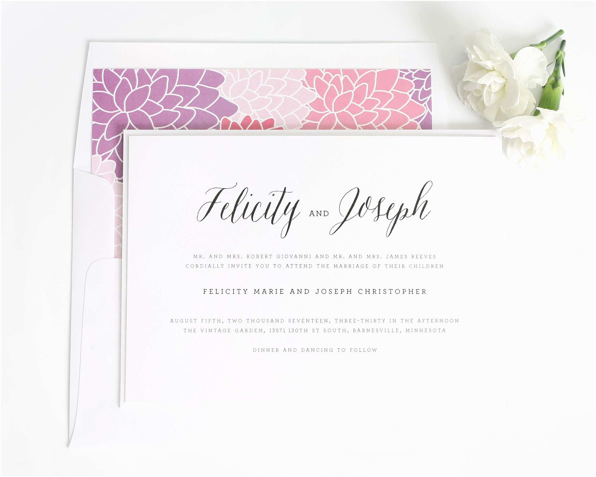 Truly Romantic Wedding Invitations Whimsical Rustic Romance Wedding Invitation with Floral
