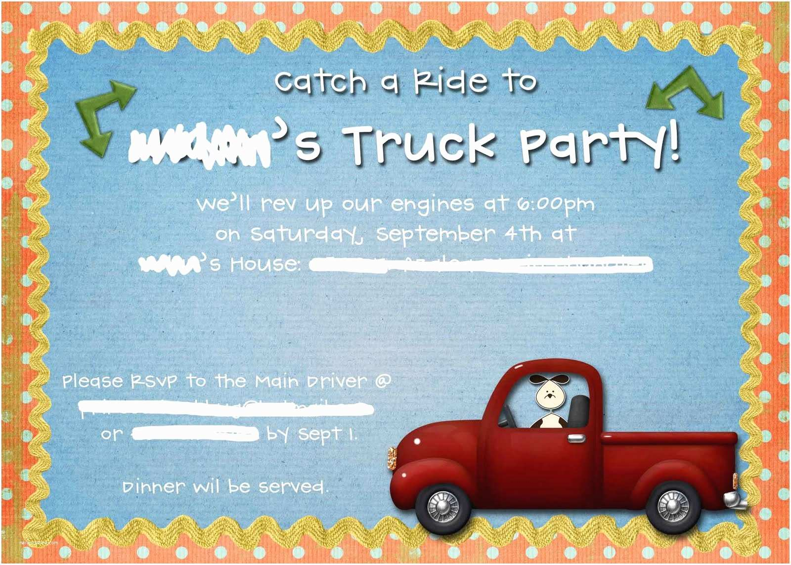 Trunk Party Invitations College Free