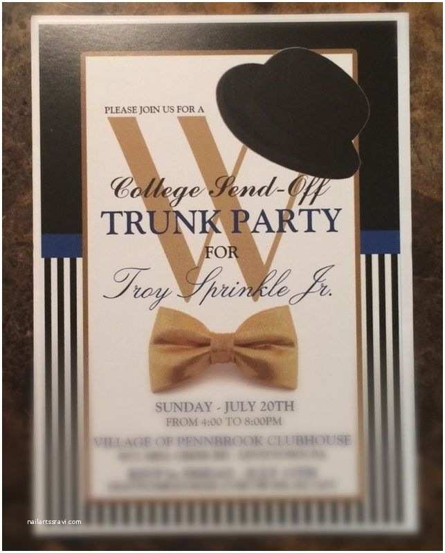 Trunk Party Invitations Graduation College Send F Trunk Party Invitation