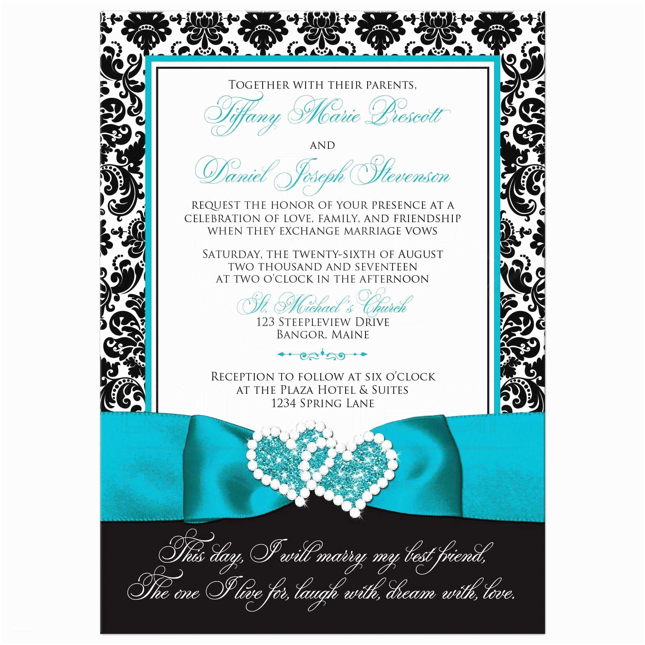 Turquoise and Hot Pink Wedding Invitations Excellent Turquoise Wedding Invitations