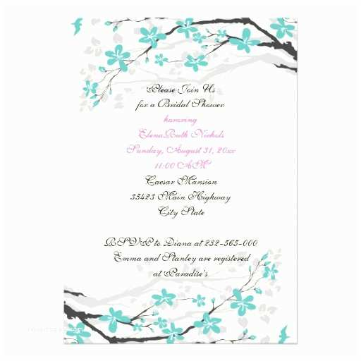 "Turquoise and Hot Pink Wedding Invitations Flowers Turquoise Hot Pink Wedding Bridal Shower 5"" X 7"" Invitation Card"